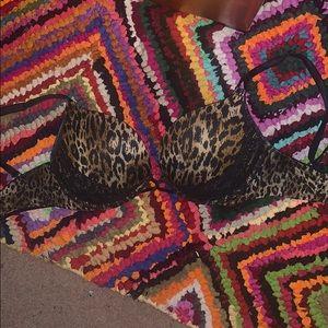 Leopard Victoria's Secret bombshell push up bra
